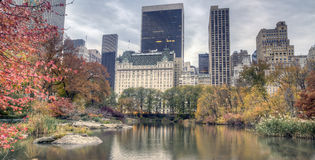 Hôtel de plaza en automne photographie stock libre de droits