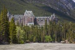 Hôtel de sources de Fairmont Banff Photographie stock libre de droits