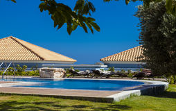Hôtel de station thermale de Marquise Luxurious de La en Grèce Image libre de droits