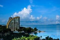 Hôtel de tourisme de bord de la mer Image libre de droits
