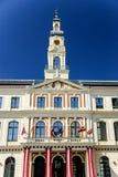 Hôtel de ville à Riga, Lettonie Images libres de droits