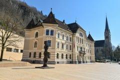 Hôtel de ville à Vaduz - en Liechtenstein Photographie stock