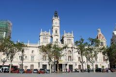 Hôtel de ville à Valence, Espagne Photos stock