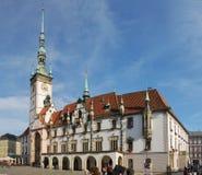 Hôtel de ville d'Olomouc - Image stock
