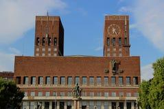 Hôtel de ville d'Oslo, Norvège photos stock