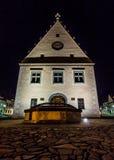 Hôtel de ville dans Bardejov Images libres de droits