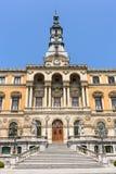 Hôtel de ville dans la ville de Bilbao Images stock