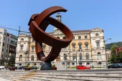 Hôtel de ville dans la ville de Bilbao Image stock