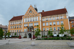 Hôtel de ville dans le Cesky Tesin photographie stock
