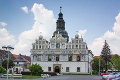 Hôtel de ville dans Stribro, République Tchèque Photos libres de droits