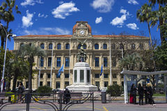 Hôtel de ville de Cannes. Built in 1876 on the plans of the architect Louis Durand, this rectangular building of neo-classic style enjoys a unique(only) Royalty Free Stock Photography
