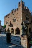 Hôtel de ville de Grazzano Visconti Images stock