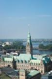 Hôtel de ville de Hambourg Image stock