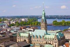 Hôtel de ville de Hambourg Allemagne Images libres de droits