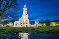 Hôtel de ville de Kaunas, Lithuanie Images stock