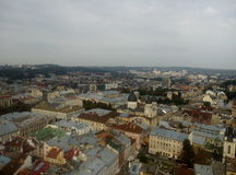 Hôtel de ville de Lviv Photographie stock libre de droits