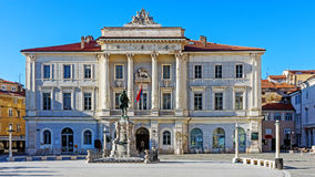 Hôtel de ville de Piran Photos libres de droits