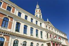 Hôtel de ville de Riga, Lettonie Image stock