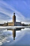Hôtel de ville de Stockholm. Image stock