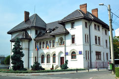 Hôtel de ville de Targu Jiu Photographie stock libre de droits