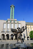 Hôtel de ville de ville nouvelle d'Ostrava Photo stock