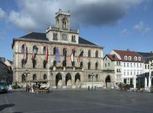 Hôtel de ville de Weimar photographie stock libre de droits