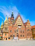 Hôtel de ville de Wroclaw, Pologne Photo libre de droits