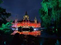 Hôtel de ville lumineux Hanovre Photographie stock
