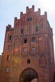Hôtel de ville médiéval de ville d'Olsztyn, Warmia et Masuria, Pologne Photos stock