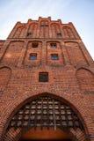 Hôtel de ville médiéval de ville d'Olsztyn, Warmia et Masuria, Pologne Images stock