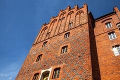 Hôtel de ville médiéval de ville d'Olsztyn, Warmia et Masuria, Pologne Photographie stock