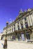 Hôtel DE Ville met antieke lamp Royalty-vrije Stock Foto's