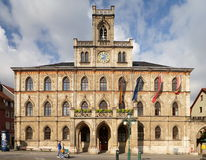 Hôtel de ville néogothique de Weimar Photographie stock