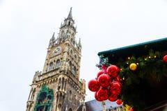 Hôtel de ville neuf à Munich, Allemagne Images stock