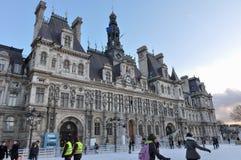Hôtel de ville in Paris, France.  Royalty Free Stock Image