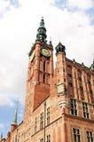 Hôtel de ville principal de Danzig, Pologne Photo libre de droits