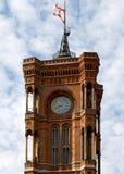 Hôtel de ville rouge (Allemand : Rotes Rathaus) - Berlin Image stock