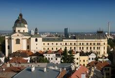 Hôtel de ville - toits d'Olomouc Photos libres de droits