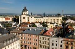 Hôtel de ville - toits d'Olomouc Images stock