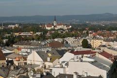 Hôtel de ville - toits d'Olomouc de ville Images libres de droits