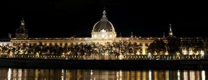 Hôtel Dieu à Lyon Photographie stock libre de droits