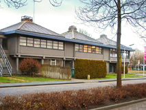 Hôtel en hiver Gorinchem, Pays-Bas photographie stock libre de droits