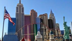 Hôtel et casino de New York New York à Las Vegas Photographie stock libre de droits