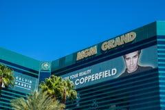 Hôtel et casino Las Vegas Nevada de Mgm Grand Photos libres de droits