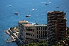 Hôtel et station de vacances de baie du Monaco Photos stock