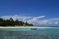 Hôtel et STATION THERMALE de RETRAITE des Maldives W Photo libre de droits