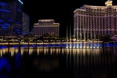 Hôtel Las Vegas de fontaines de Bellagio Photos stock