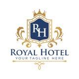 Hôtel Logo Template Images libres de droits