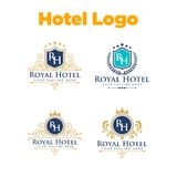 Hôtel Logo Template Images stock