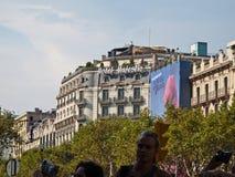 Hôtel majestueux, Barcelone Images stock